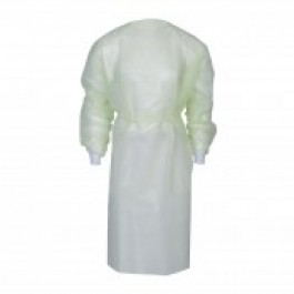 Disposable Yellow Waterproof Lab Gown