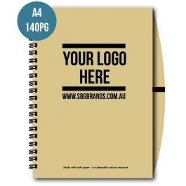 A4 140pg RECYCLED NOTEBOOK