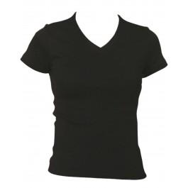 Ladies Cotton Stretch V-Neck T-Shirt
